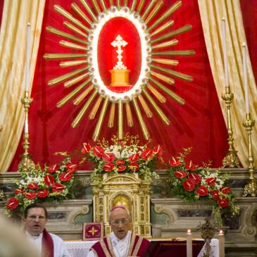 Santa Messa celebrata dal Vescovo Monsignor Morandini e Processione